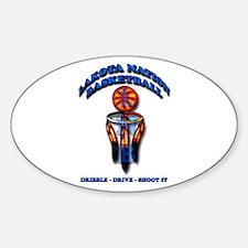 Lakota Nation Basketball Sticker (Oval)