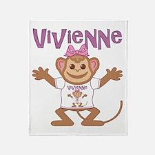 Little Monkey Vivienne Throw Blanket