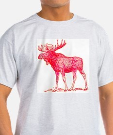 lexicon graphic pink moose T-Shirt