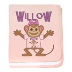 Little Monkey Willow baby blanket