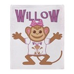 Little Monkey Willow Throw Blanket