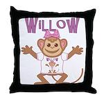 Little Monkey Willow Throw Pillow