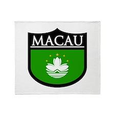 Macau Patch Throw Blanket
