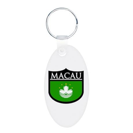 Macau Patch Aluminum Oval Keychain