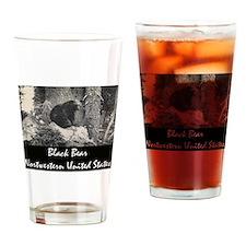 American Black Bear Drinking Glass