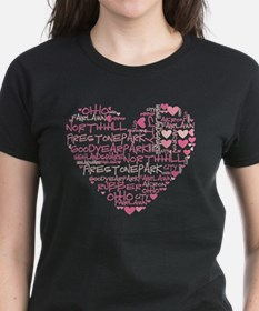 Akron Heart Word Cloud 2 Tee