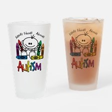 Autism Crayons Drinking Glass