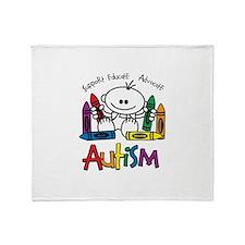 Autism Crayons Throw Blanket