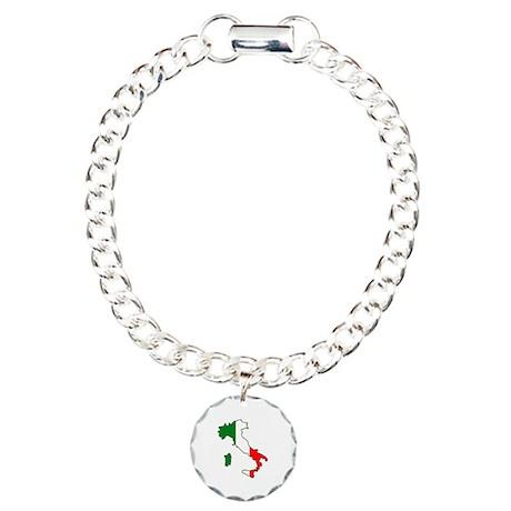 Italy Map Charm Bracelet, One Charm