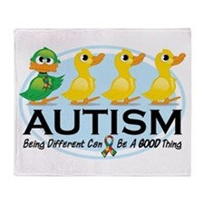 Autism Ugly Duckling Throw Blanket