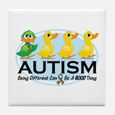 Autism Ugly Duckling Tile Coaster