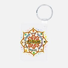 Autism Lotus Aluminum Photo Keychain