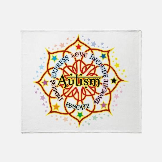 Autism Lotus Throw Blanket