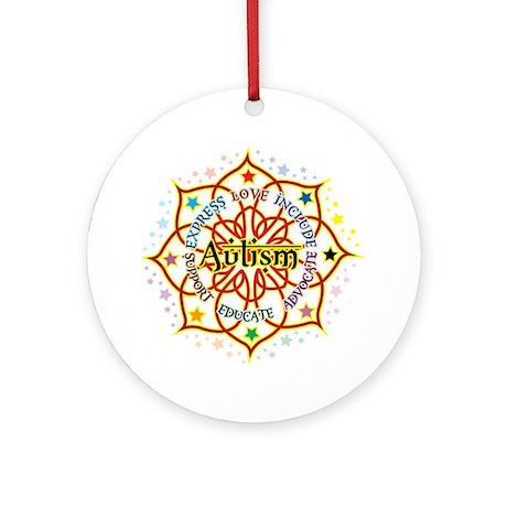 Autism Lotus Ornament (Round)