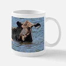 Cow & Calf Moose swimming Mug