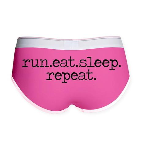 run eat sleep repeat Women's Boy Brief