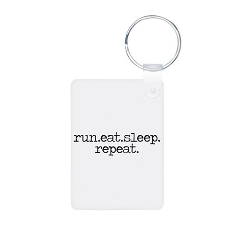 run eat sleep repeat Aluminum Photo Keychain