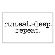 run eat sleep repeat Stickers