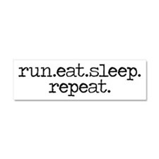 run eat sleep repeat Car Magnet 10 x 3