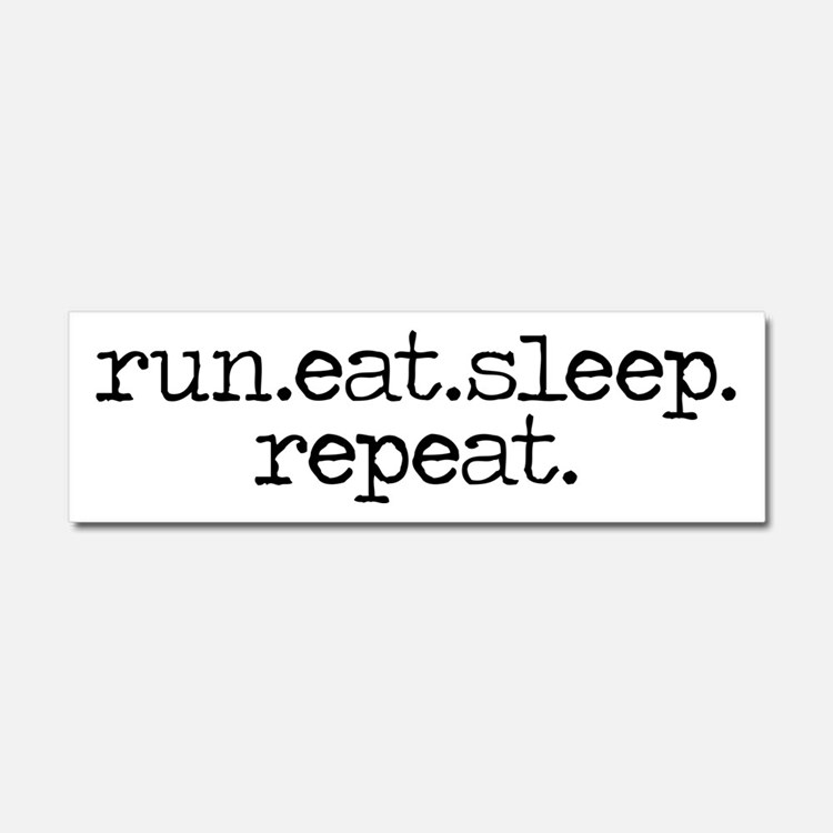 run eat sleep repeat Car Magnet 10 x 3