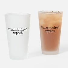 run eat sleep repeat Drinking Glass