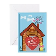In Our Hearts Forever blank card