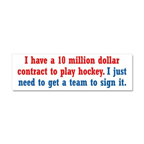Hockey Contract Car Magnet 10 x 3
