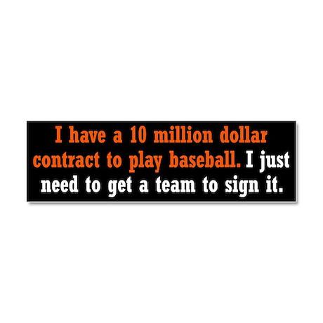 Baseball Contract Car Magnet 10 x 3