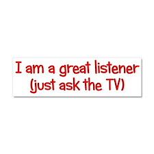 Great TV Listener Car Magnet 10 x 3
