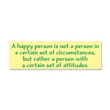 Happy Person Car Magnet 10 x 3