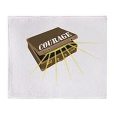 suitcase of courage Throw Blanket