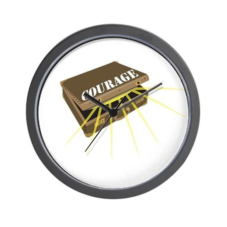 suitcase of courage Wall Clock