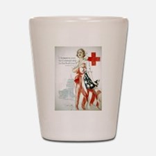Red Cross Comradeship Shot Glass