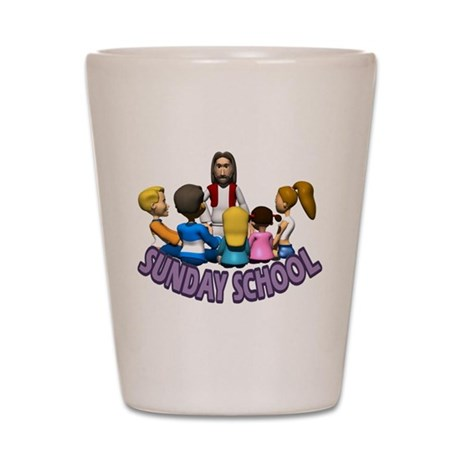 Sunday School Shot Glass
