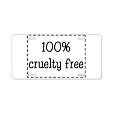 100% Cruelty Free Aluminum License Plate