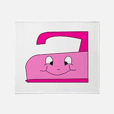 Hot Pink Iron Throw Blanket