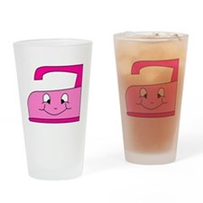 Hot Pink Iron Drinking Glass