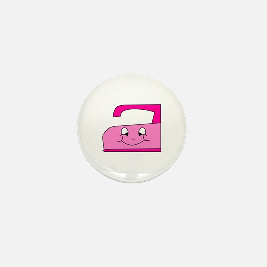 Hot Pink Iron Mini Button