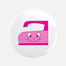 "Hot Pink Iron 3.5"" Button"