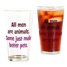 Men as Pets Drinking Glass