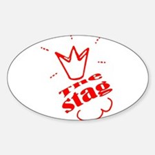 Stag The Bachelor party Sticker (Oval)