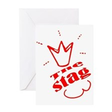Stag The Bachelor party Greeting Card