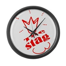 Stag The Bachelor party Large Wall Clock