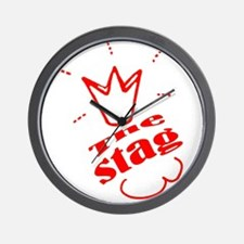Stag The Bachelor party Wall Clock