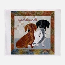 Quilted Dachshunds Throw Blanket