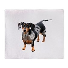 Spotted Doxie Throw Blanket