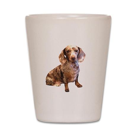 Spotty Dachshund Dog Shot Glass