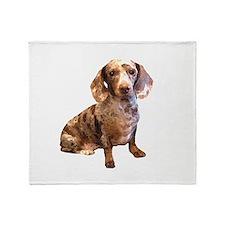 Spotty Dachshund Dog Throw Blanket