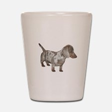Speckled Dachshund Dog Shot Glass