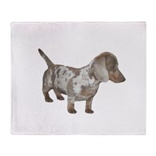 Speckled Dachshund Dog Throw Blanket